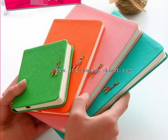 pu leather cover bound notebook