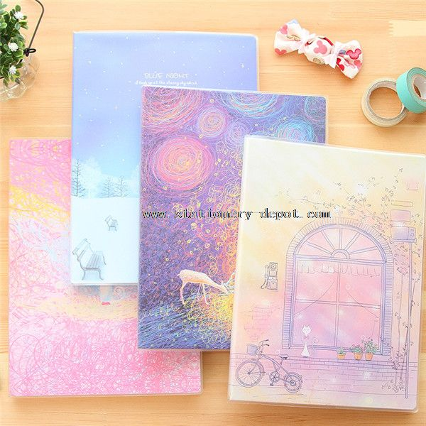 PVC plastic cover notebook