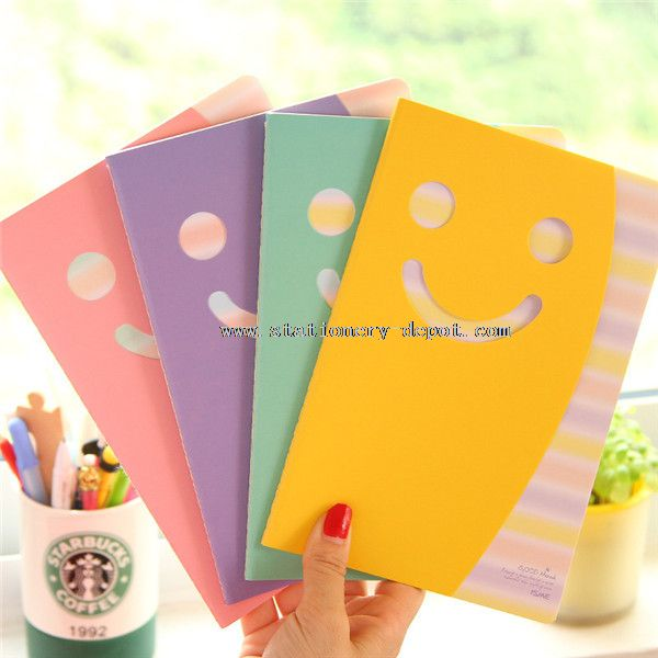 smile cover paper notebooks