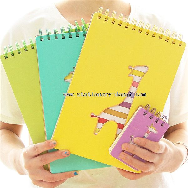 spiral notebook with color pages
