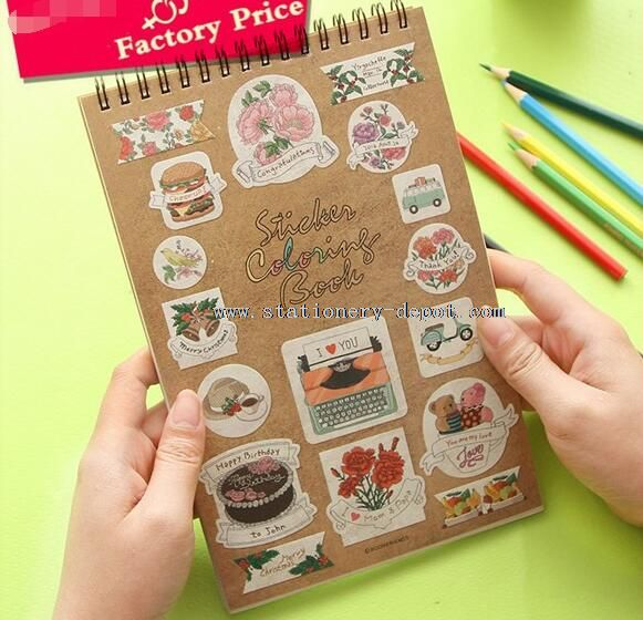 sticky coloring note book