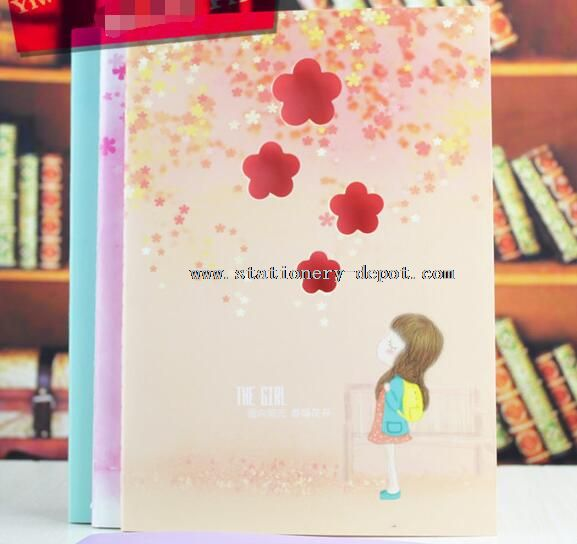 The Girl Flower Design Cute Cheap Paper Notebooks