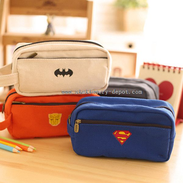 two layer hero multifunction high school pencil case