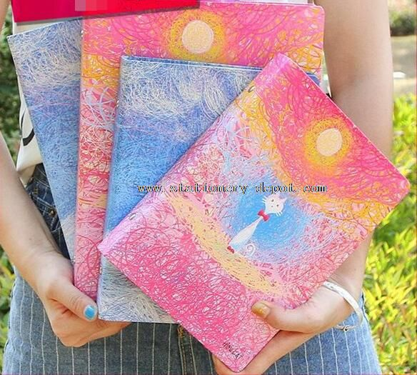 Unique sky design recycled paper notebook