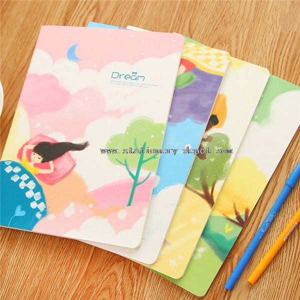 writing notebooks with plastic cover