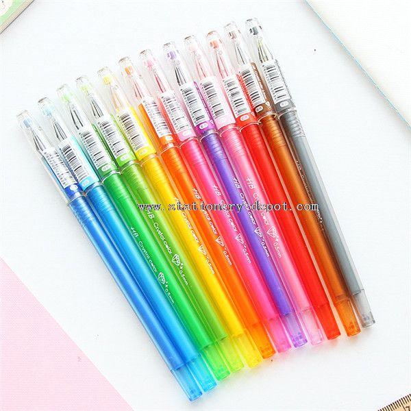 0.5mm 12 color gel pen set