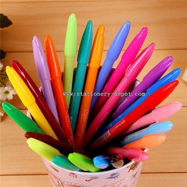 24 color drawing indelible marker gel pen