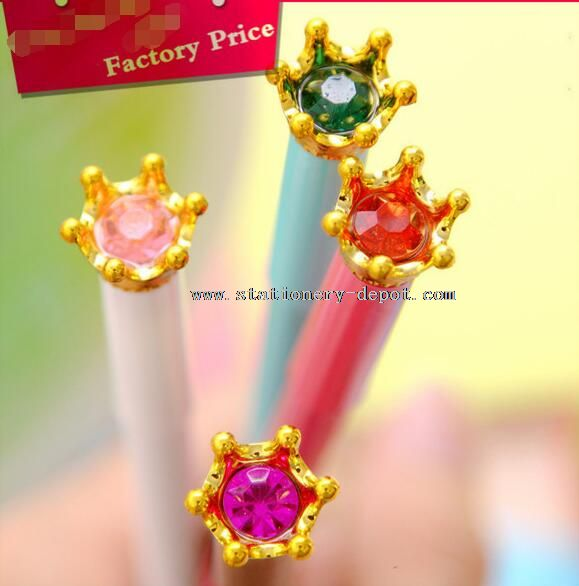 crystal crown shaped gel pens