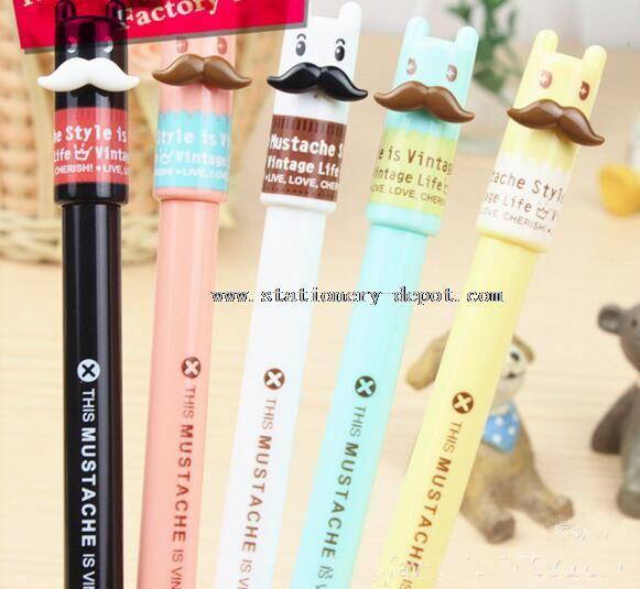 cute cartoon beard design disposable ballpoint pen
