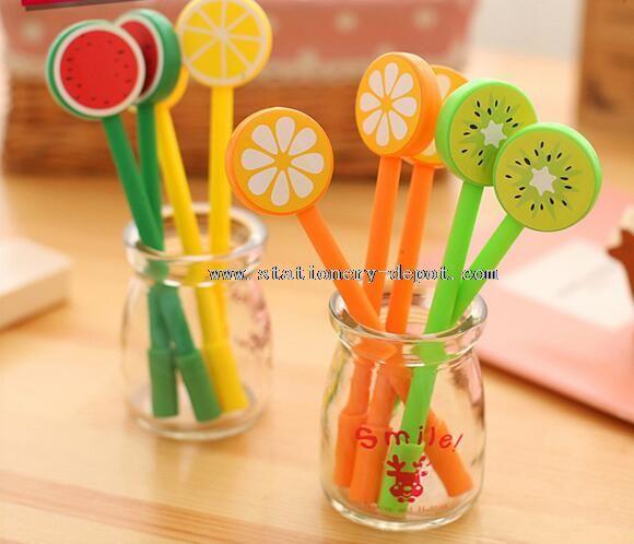cute fruit shape gel pen