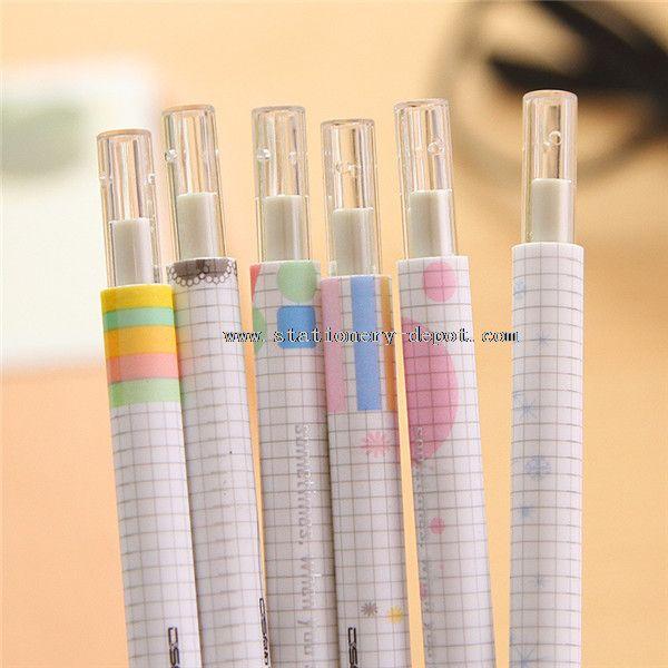 gel black ink pen