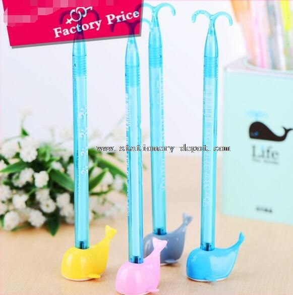 gel ink gift pen with stand for children