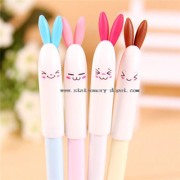lovely rabbit gel pen with rubber grip