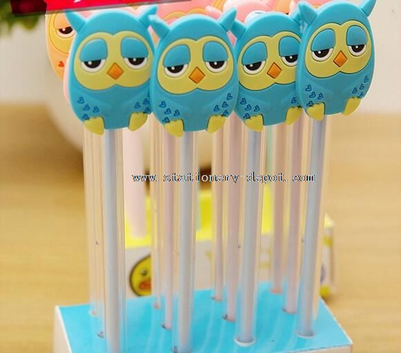 owl korean school kids gel pen