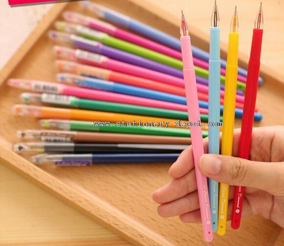plastic colorful gel ink pen