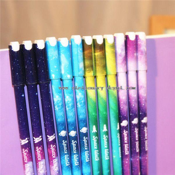 plastic glitter gel pen set