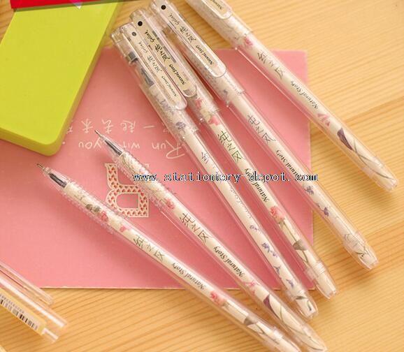 plastis cartoon gel pens