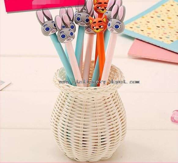 rabbit korea gift gel pen for kids