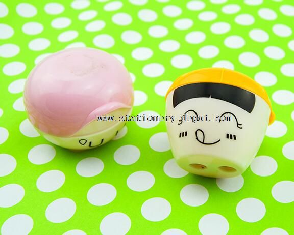 lovely face plastic pencil sharpener
