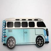 mini bus shaped spiral note pad images