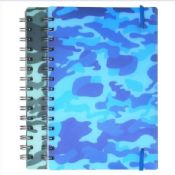 spiral notebook with elastic band images