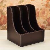 3 Slot Leather Bookends images