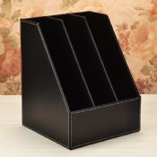 3 Slot Leather Desk Organizer Bookends images