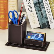 Pen holder with memo pad images