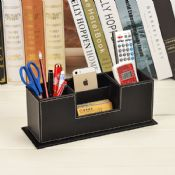 PU Leather Desktop Pen Holder images