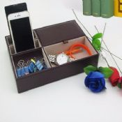 PU leather desk organizer images
