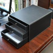 PU Leather office desk organizer images