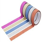 Glitter Customised DIY Washi Material Tape images