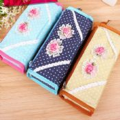 funny flower shaped zipper pencil case images