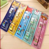 pencil eraser ruler stationery gift set for children images