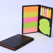 sticky note in Black pu cover note book images