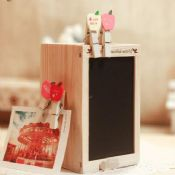 wood pencil holder with blackboard images