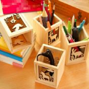 wooden desk organizer images