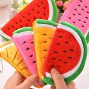 Cute fabric watermelon design pencil case images