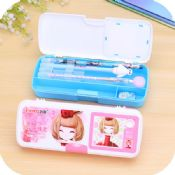 fancy plastic pencil box set images