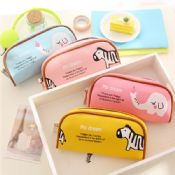 PU leather Dream Animal horse pencil case images