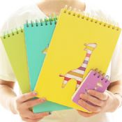 spiral notebook with color pages images