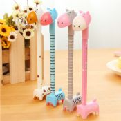 cartoon animal donkey pen stand promotional gel pen images