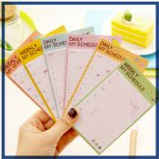 Weekly Daily Schedule custom sticky notes images