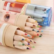 color pencil set with sharpener images
