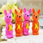 3D pretty animal shaped erasers images