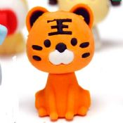 3D Shaped Animal Pencil Erasers images
