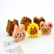 Animal Rubber Eraser With Full Color Printing images