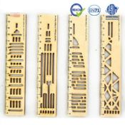 wooden hand made template scale ruler images