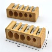 5 holes bamboo pencil sharpener images