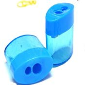 plastic pencil sharpener with two hole images
